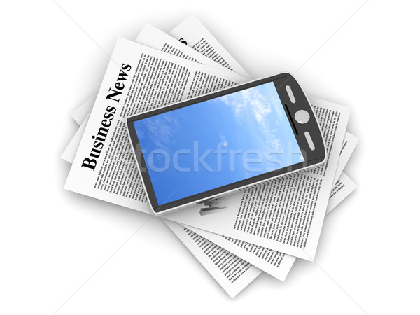 Stock photo: Smartphone in the Business News