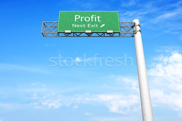 шоссе знак прибыль 3D оказанный иллюстрация следующий Сток-фото © Spectral