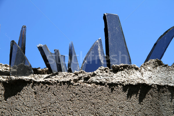 Wall with glass fragments	 Stock photo © Spectral