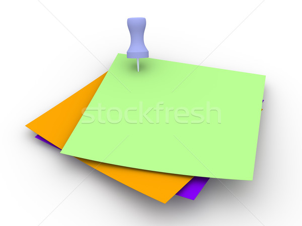 Colored Pinned Notes Stock photo © Spectral