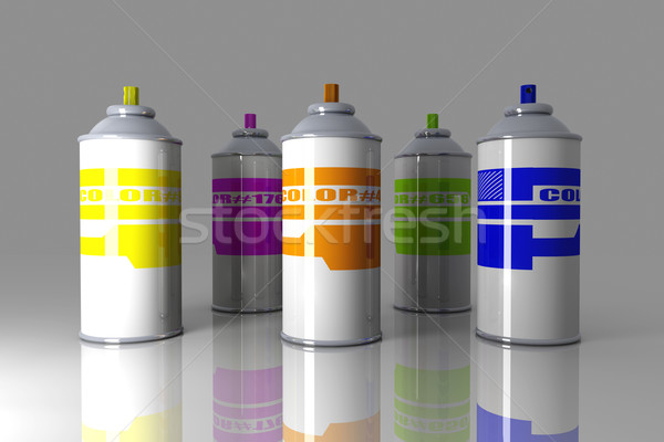 Color Aerosol Cans Stock photo © Spectral