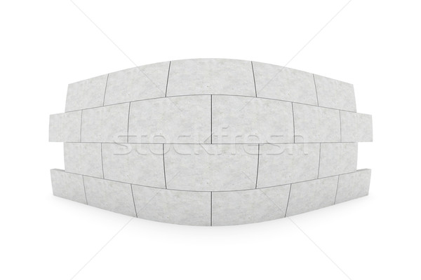 Olho de peixe parede ilustração 3d isolado branco construção Foto stock © Spectral