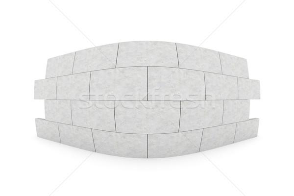 Fisheye muur 3d illustration geïsoleerd witte bouw Stockfoto © Spectral