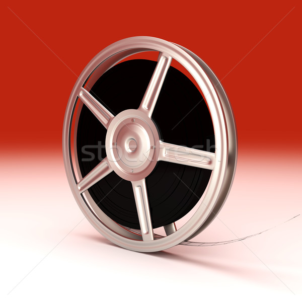 Film reel 3D gerenderd illustratie film frame Stockfoto © Spectral