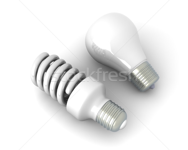 Light bulbs - Old and new		 Stock photo © Spectral