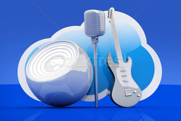 Música nube 3D prestados ilustración Foto stock © Spectral
