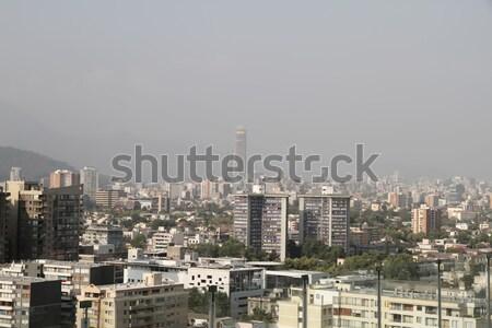 Szmog Santiago Chile szennyezés sziluett dél-amerika Stock fotó © Spectral