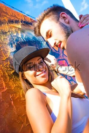 Muur stedelijke milieu jonge Stockfoto © Spectral