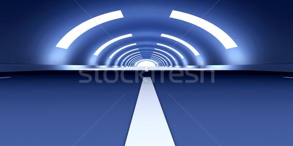 Tunnel illustrazione 3d viaggio interni architettura traffico Foto d'archivio © Spectral
