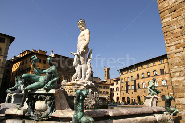 Fountain of Neptune in Florence Stock photo © Spectral