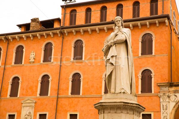 Antigo estátua verona centro Itália edifício Foto stock © Spectral