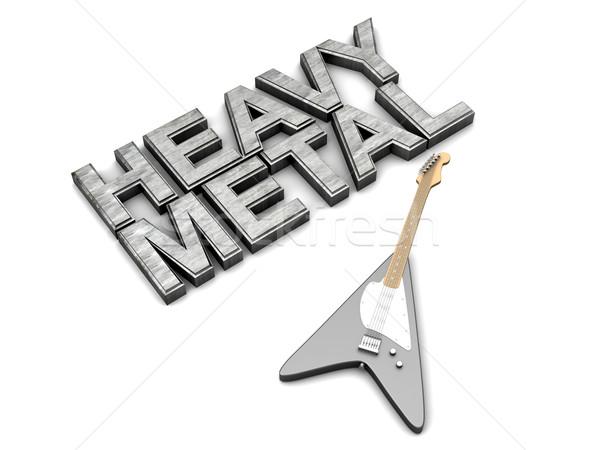 重金属 言葉 ジェネリック ギター 3D レンダリング ストックフォト © Spectral