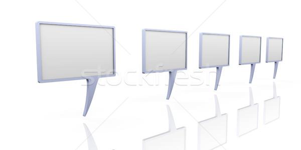 3D reso illustrazione cartoon frame Foto d'archivio © Spectral