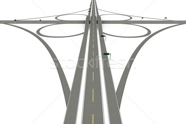 道路 3D レンダリング 実例 孤立した 白 ストックフォト © Spectral