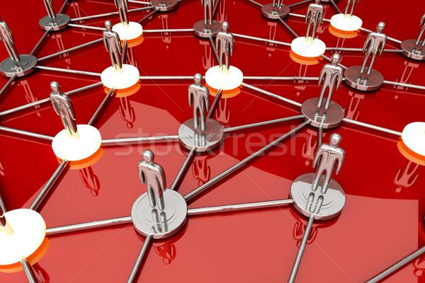 Red social 3D prestados ilustración Internet tecnología Foto stock © Spectral