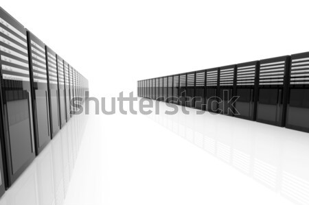 サーバー ルーム 3次元の図 孤立した 白 ネットワーク ストックフォト © Spectral