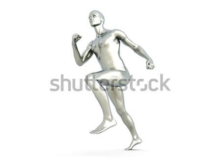 спортсмена 3D оказанный иллюстрация ню человека Сток-фото © Spectral