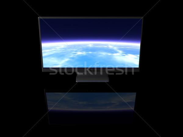 Heldere display lcd donkere 3D gerenderd Stockfoto © Spectral