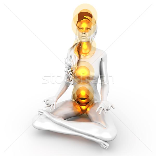 Chakra Meditation Stock photo © Spectral