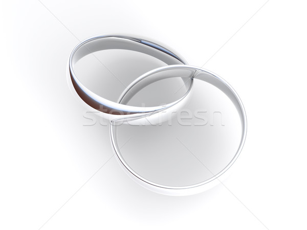 Silver engagement Rings Stock photo © Spectral