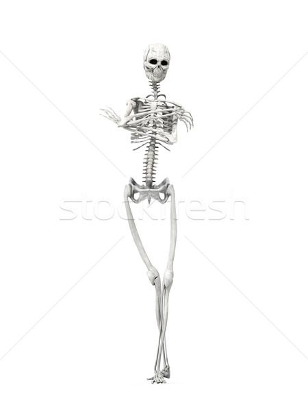 Gelangweilt Skelett 3D gerendert Illustration Mann Stock foto © Spectral