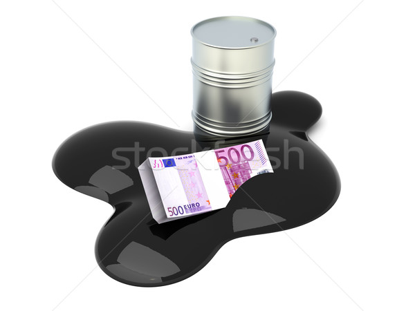 Euros drowned in Oil Stock photo © Spectral
