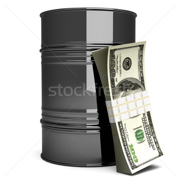 Prijs olie dollar merkt 3D gerenderd Stockfoto © Spectral