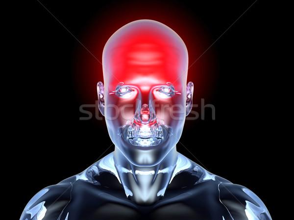 Dolor de cabeza anatomía médicos ilustración 3D prestados Foto stock © Spectral
