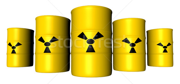 Radioactifs trash 3D rendu illustration signe Photo stock © Spectral