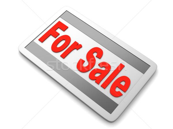 Sprzedaży podpisania 3D świadczonych ilustracja sklep Zdjęcia stock © Spectral