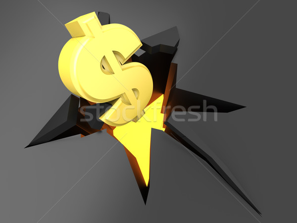 Dollar Crash Stock photo © Spectral