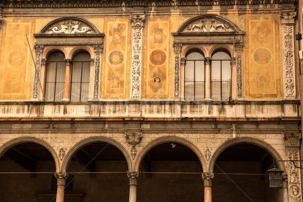 Arquitetura histórica verona Itália edifício parede arquitetura Foto stock © Spectral