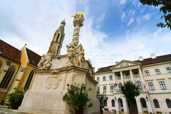 Holy Trinity Statue in Sopron Stock photo © Spectral
