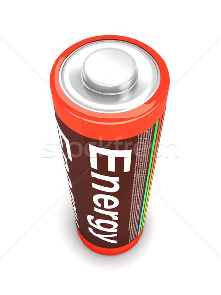 Batterij 3D gerenderd illustratie geïsoleerd witte Stockfoto © Spectral