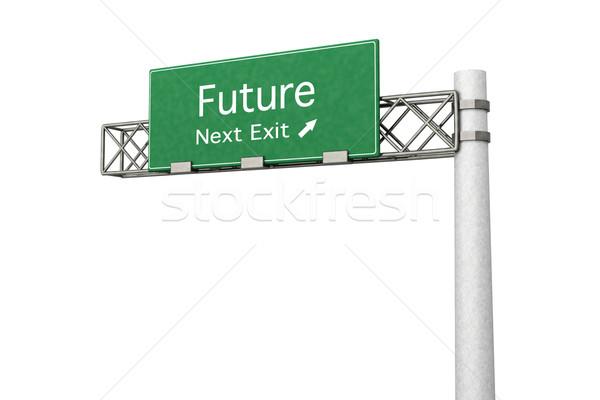 Otoyol işareti gelecek 3D render örnek sonraki Stok fotoğraf © Spectral