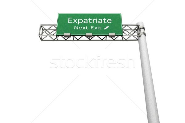 Sinal da estrada 3D prestados ilustração próximo sair Foto stock © Spectral