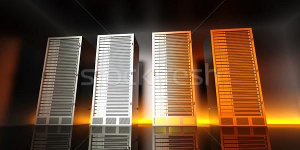сервер комнату 3D оказанный иллюстрация дизайна Сток-фото © Spectral