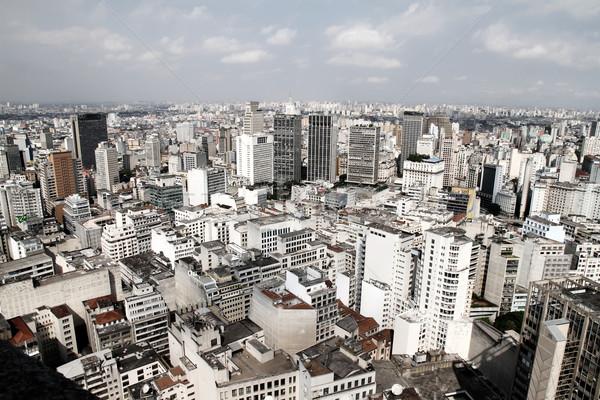 Sziluett Sao Paulo Brazília égbolt iroda ház Stock fotó © Spectral