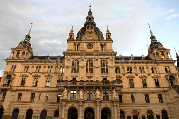 Stadhuis Graz Oostenrijk Europa gebouw stad Stockfoto © Spectral
