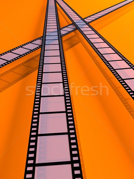 фильма полосы 3d иллюстрации кадр фильма черный Сток-фото © Spectral