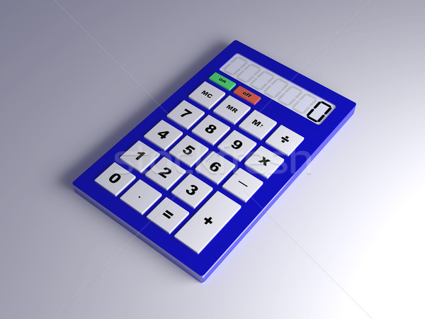 Calculator 3d illustration kantoor onderwijs wetenschap financieren Stockfoto © Spectral