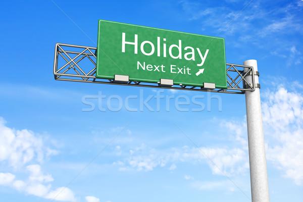 шоссе знак праздник 3D оказанный иллюстрация следующий Сток-фото © Spectral