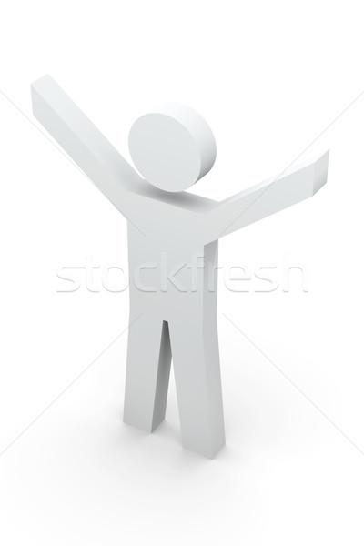 победителем личности 3d иллюстрации дизайна металл власти Сток-фото © Spectral