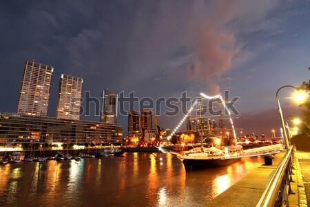 Buenos Aires éjszaka lövés Argentína dél-amerika iroda Stock fotó © Spectral