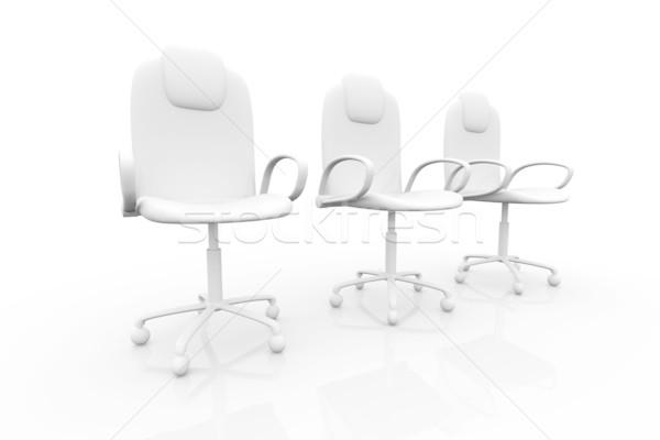 Bureaustoel 3D gerenderd stoel bedrijf grafische Stockfoto © Spectral