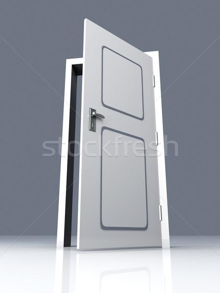 открытых дверей двери открытых 3D оказанный иллюстрация Сток-фото © Spectral