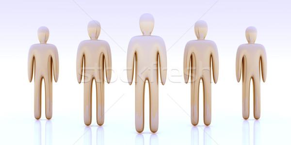 анонимный толпа 3d иллюстрации группа работник цифровой Сток-фото © Spectral