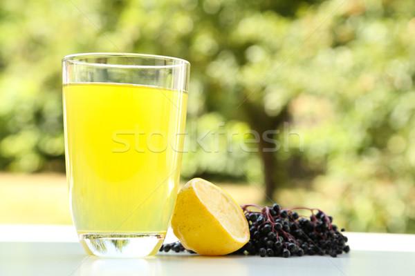 Természetes limonádé idősebb bogyók üveg gyümölcs Stock fotó © Spectral