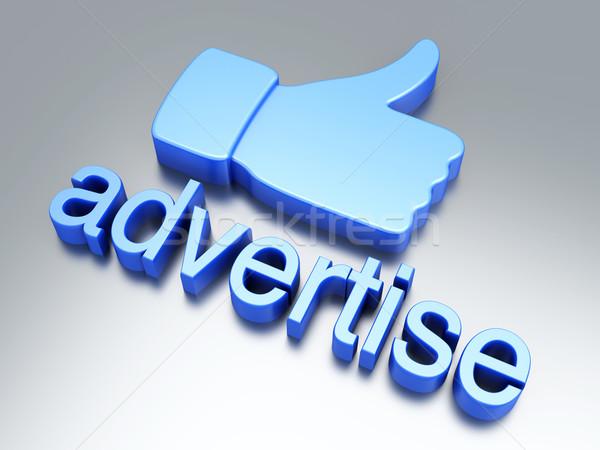 Adverteren reclame 3D gerenderd illustratie Stockfoto © Spectral