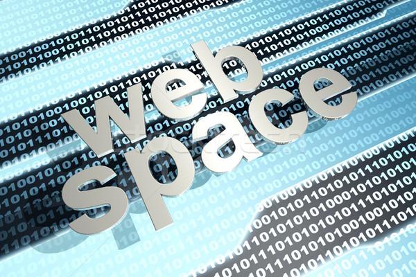 Dijital ikili kod 3d illustration bilgisayar teknoloji ağ Stok fotoğraf © Spectral